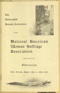 Program, 35th Annual NAWSA Convention held in New Orleans, 1903, Library of Congress