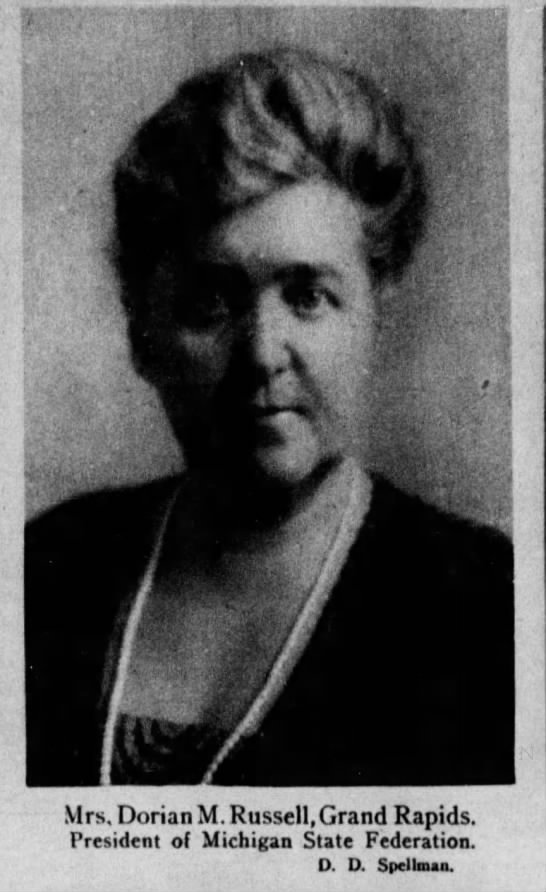 Photograph of Helen E. Russell, Detroit Free Press, October 14, 1923.