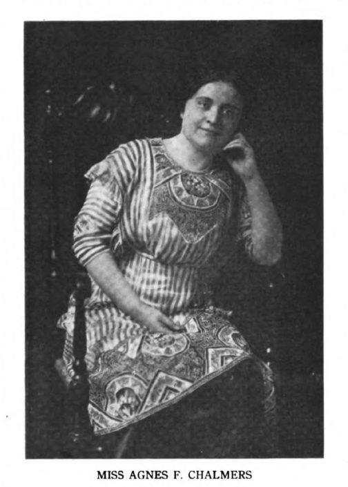 March 1913, Agnes Chalmers in the journal Medical Freedom