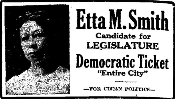 October 30, 1920, Etta M. Smith Political Ad, Grand Rapids Press
