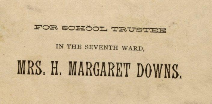 H. Margaret Downs School Board Ad, Emily Burton Ketcham Scrapbook, Grand Rapids Public Library