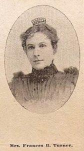 Photo of Frances Turner from Grand Rapids Herald, September 10, 1899.