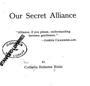 1917, Title Page of Our Secret Alliance by Cornelia Steketee Hulst